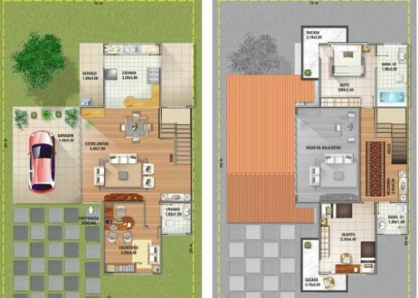 7-plantas de casas com salas grandes