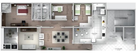9-plantas de casas com salas grandes