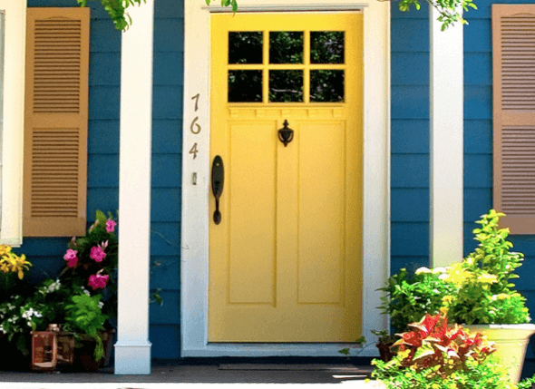 23-Portas coloridas para casa