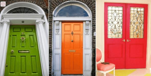 24-Portas coloridas para casa