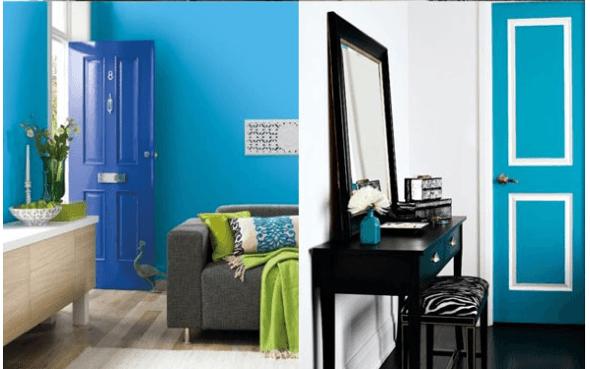 4-Portas coloridas para casa