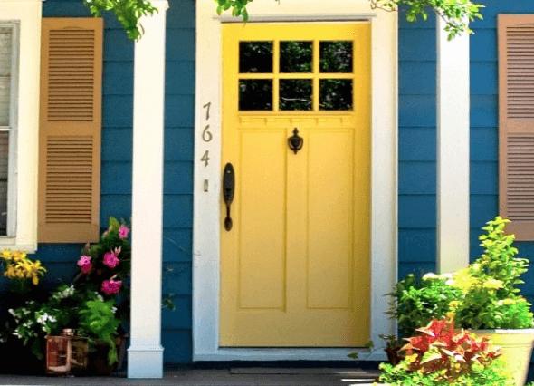 7-Portas coloridas para casa