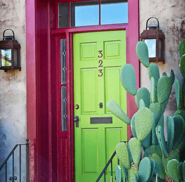 8-Portas coloridas para casa