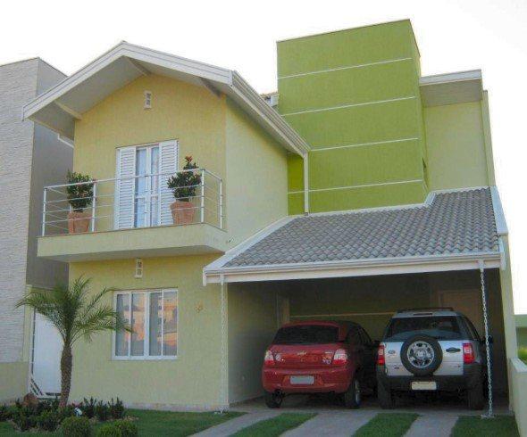 Fachadas de sobrados 28 modelos e 4 maneiras de decorar for Frentes de casas pintadas