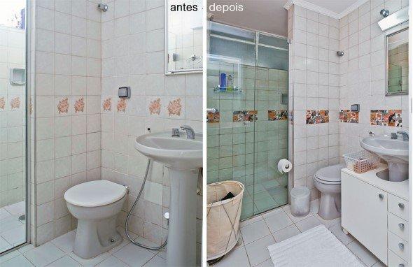 15 banheiros antes x depois da reforma e dicas para decorar -> Reforma Banheiro Pequeno Antes E Depois