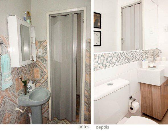 15 banheiros antes x depois da reforma e dicas para decorar # Reforma Banheiro Pequeno Antes E Depois