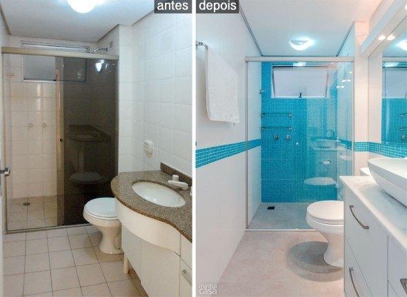 15 banheiros antes x depois da reforma e dicas para decorar -> Como Decorar Banheiro De Forma Barata