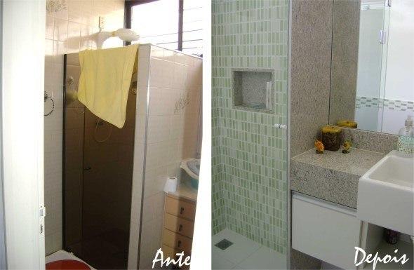 15 banheiros antes x depois da reforma e dicas para decorar -> Reforma De Banheiro Pequeno Antes E Depois