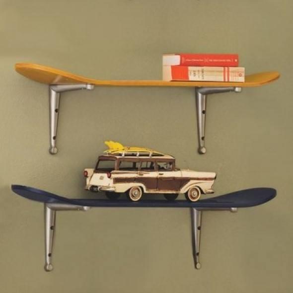 4 idéias para decorar quarto com skate para meninos e jovens