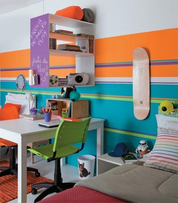 4 id ias para decorar quarto com skate para meninos e jovens for Jugendzimmer porta