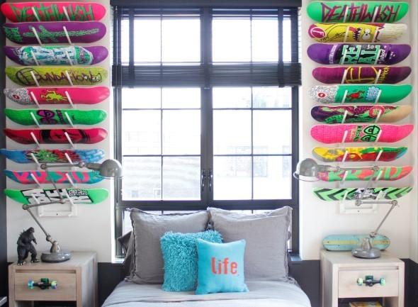 4 id ias para decorar quarto com skate para meninos e jovens for Bmx bedroom ideas