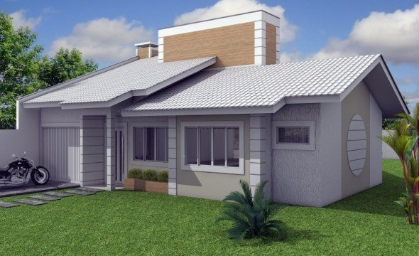 14 fachadas de casas com telhados diferentes e ousados for Modelos de fachadas para casas