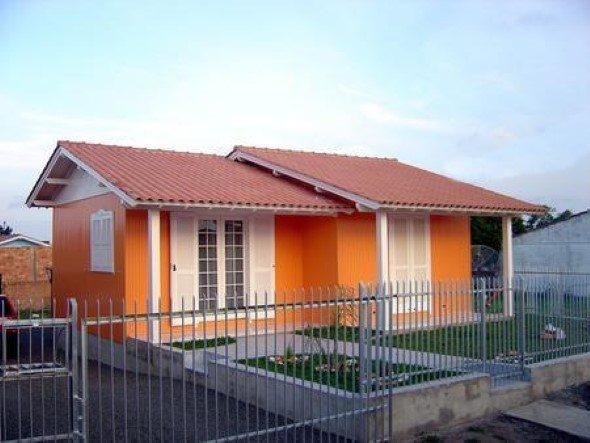 Fachadas de casas simples 4 dicas de projetos mais 15 fotos for Pintura para frente de casas