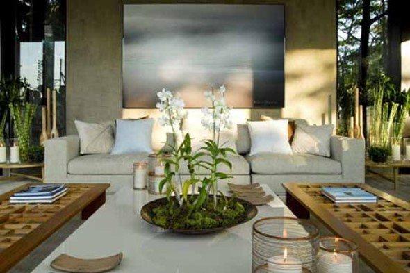 15 salas decoradas com plantas e a escolha do local -> Vasos De Decoração Para Sala Pequena