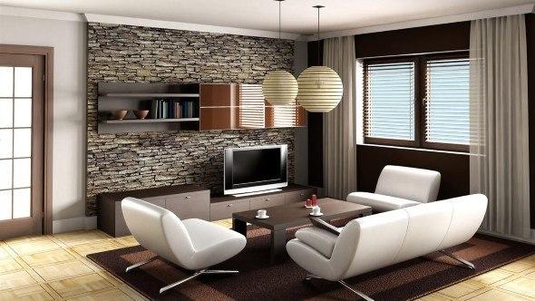 Ideias Para Sala De Estar Moderna ~ Salas de estar decoradas 4 idéias e 36 projetos de exemplo
