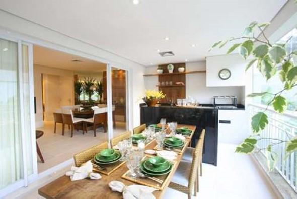 15 varandas gourmet para construir e 4 dicas para decorar # Decoração Para Varanda De Apartamento Simples
