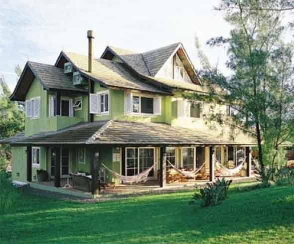 Fabuloso Fachada verde para casas é a nova tendência! 15 modelos e dicas DF91