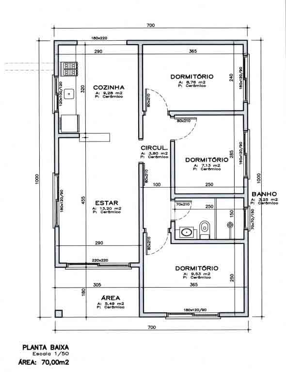 12 modelos de planta baixa de uma casa e dicas de cria o for Casas modernas de 70m2