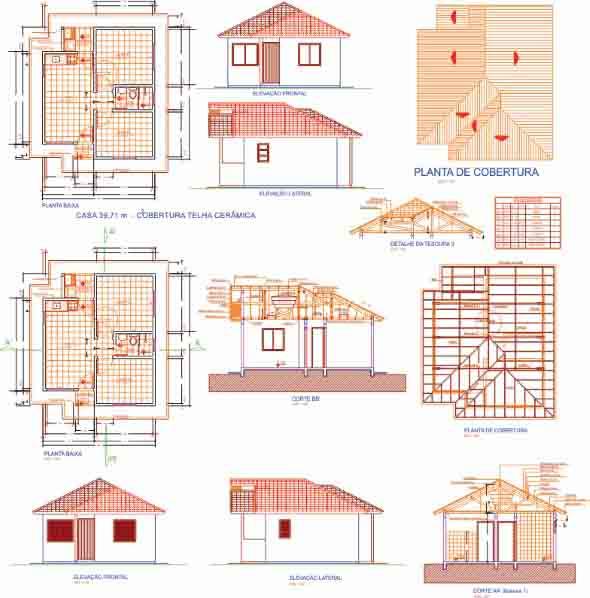 9 modelos de projetos de casas populares e suas regras na for Casa popular