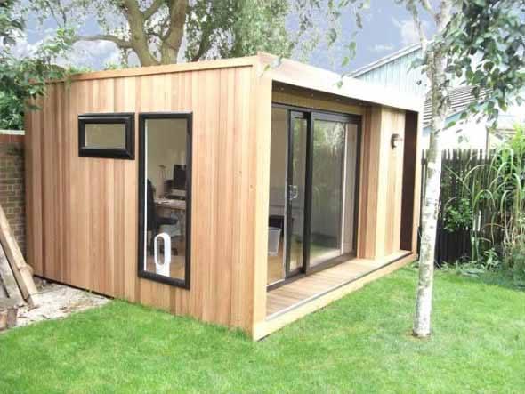 14 modelos de casas pr fabricadas pequenas e seus 6 for Casas prefabricadas para jardin