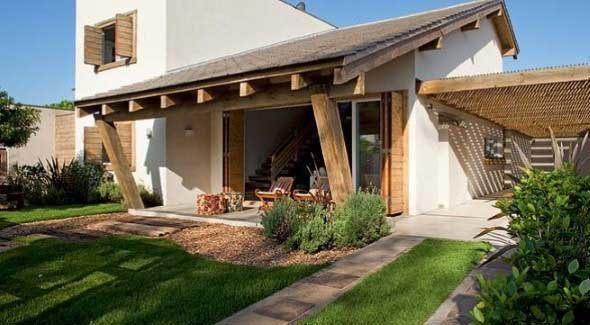 16 fachadas de casas de campo e 4 elementos importantes for Jardines exteriores de casas de campo