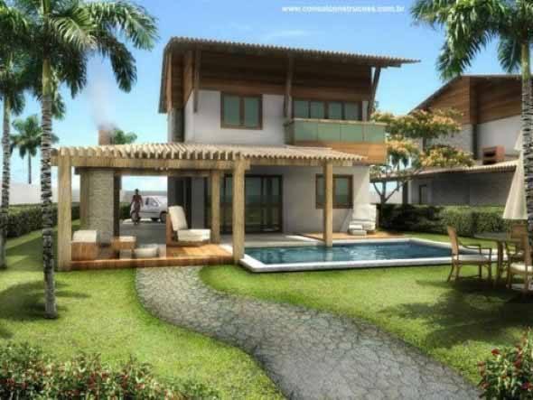 15 fachadas de casas de praia e 5 dicas de constru o for Fotos de casas modernas brasileiras