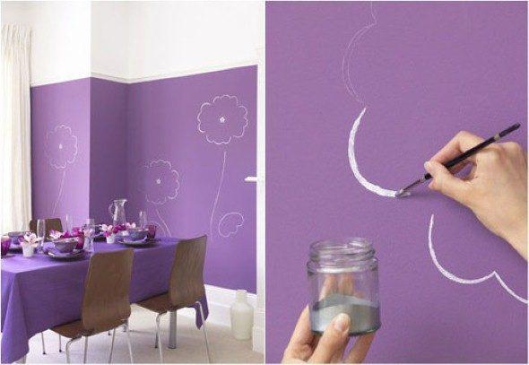 4 t cnicas criativas de pintura em paredes - Pinturas lavables para paredes ...