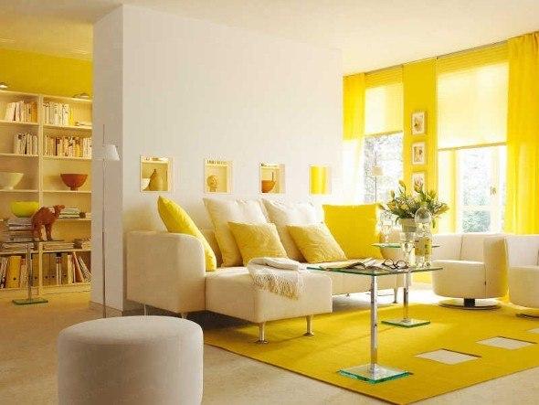 Sala De Estar Em Amarelo ~ Amarelo na decoração da sala 16 exemplos lindos e dicas
