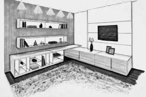 Layouts para móveis da sala 004