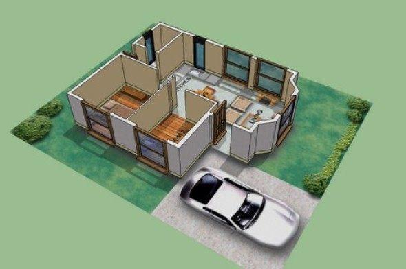 16 pequenos modelos de casas simples para construir - Crear casas 3d ...