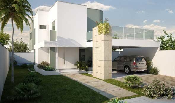 16 modelos de fachadas de casas sem telhados e 2 tipos for Modelos de fachadas para frentes de casas