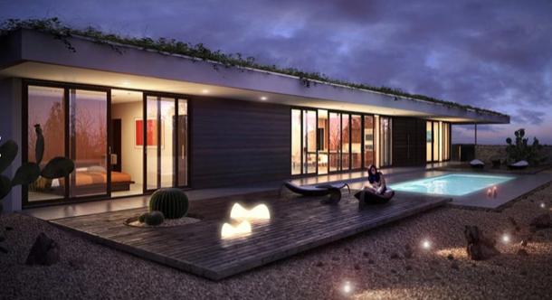 casa moderna com telhado verde-01
