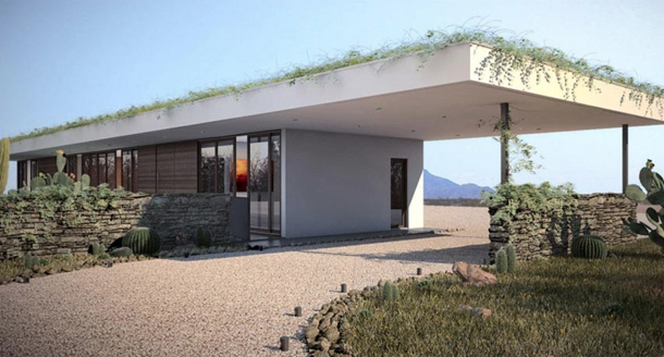 casa moderna com telhado verde-02
