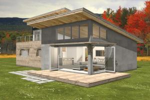 1-Casa sustentável moderna