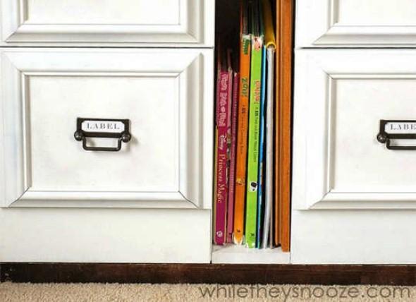 Restauração do armário com um toque de originalidade.