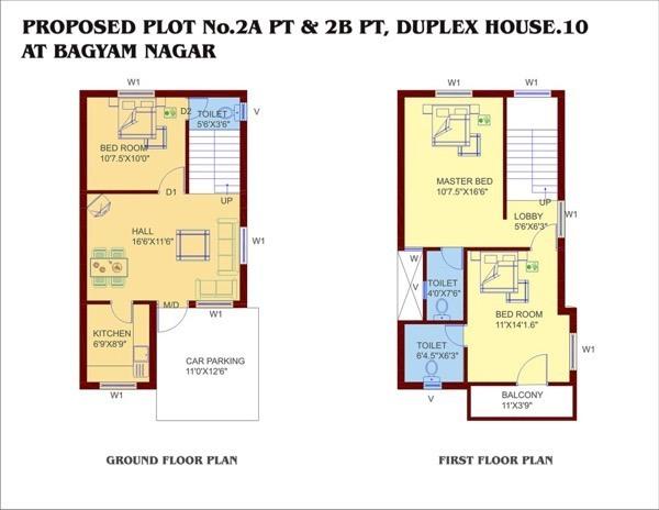10-plantas de casas duplex modelos