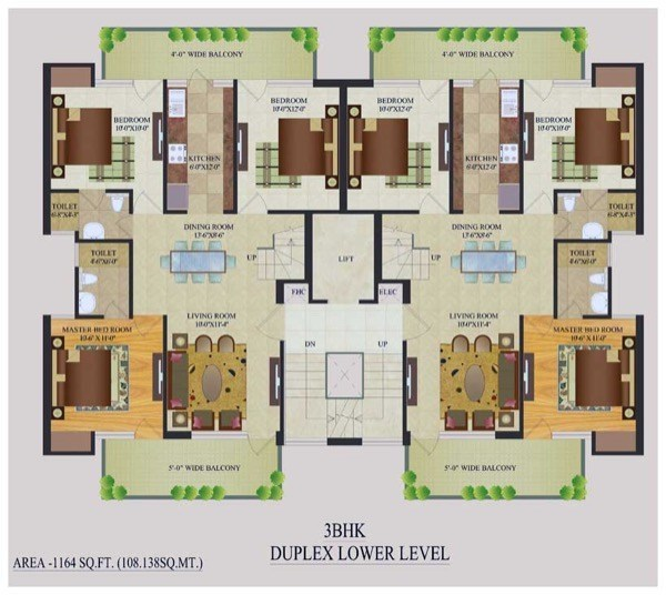 42 plantas de casas duplex e geminadas para construir for Duplex home plans indian style