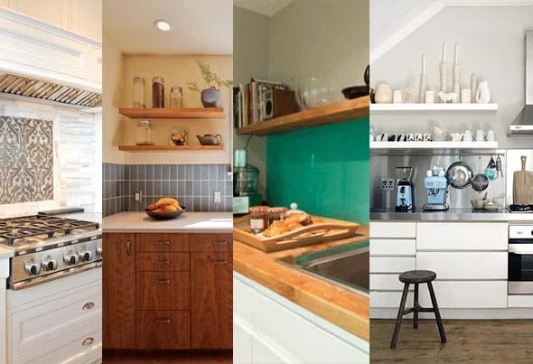 Painéis de respingos, uma ideia muito bem vinda na cozinha.