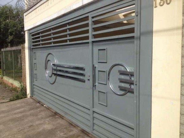 17-Modelos de portões de garagem