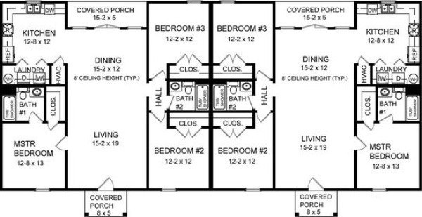 17-plantas de casas duplex modelos