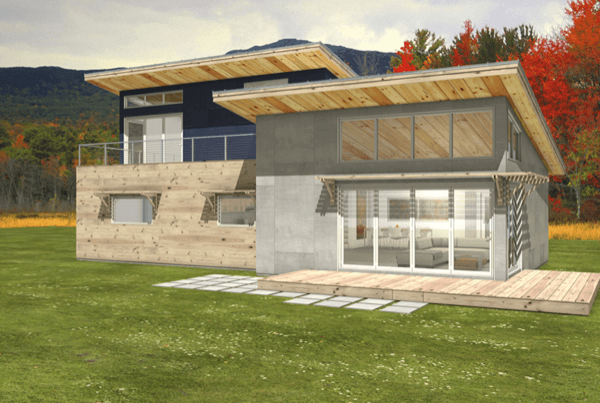 3-Casa sustentável moderna