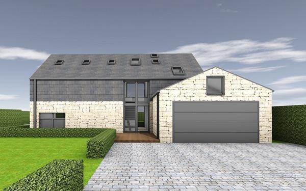3-Frente de casas com garagem