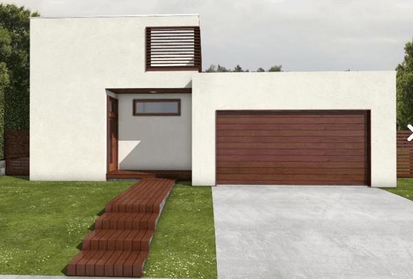 3-Linda casa com linhas retas com 182m2