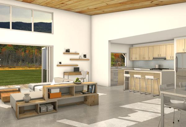 4-Casa sustentável moderna