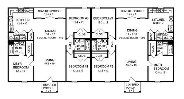 40-plantas de casas duplex modelos
