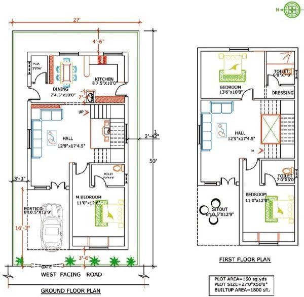 42-plantas de casas duplex modelos