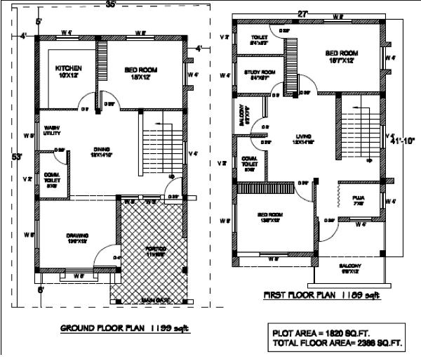 5-plantas de casas duplex modelos