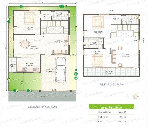 9-plantas de casas duplex modelos