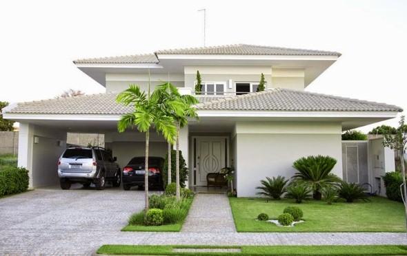 Frente de casas com garagem 004