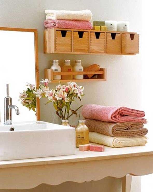 6 ideias para o banheiro sem gastar muito -> Ideias Criativas Para Pia De Banheiro